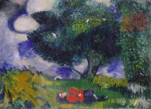 The Poet with the Birds, by Marc Chagall